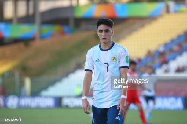 Franco Orozco of Argentina during the FIFA U17 World Cup Brazil 2019 Group E match between Argentina and Tajikistan at Estadio Kleber Andrade on...