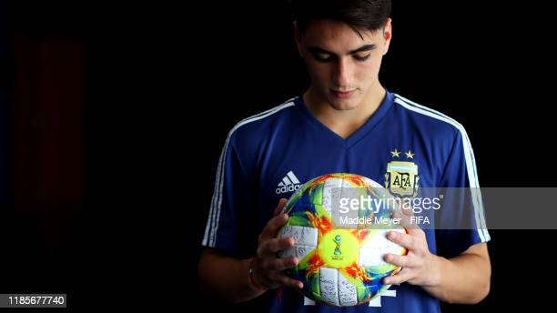 Franco Orozco of Argentina poses for a portrait during the FIFA U17 World Cup Brazil 2019 at the Golden Tulip Porto Vitória on November 05 2019 in...