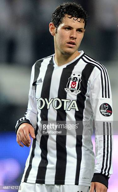 Franco Pedro of Besiktas JK in action during the Turkish Super League match between Besiktas and Fenerbahce at the Ataturk Olympic Stadium on April...