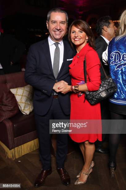 Franco Savastano and Maria Savastano attend the Tommy Hilfiger VIP Dinner in celebration of the 13th Zurich Film Festival on October 6 2017 in Zurich...