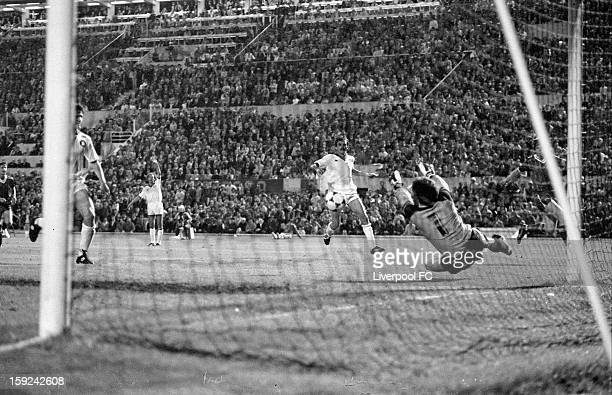Franco Tancredi of AS Roma makes a save during the UEFA European Cup Final between AS Roma and Liverpool FC held on May 30 1984 at the Stadio...