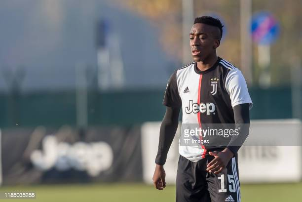 Franco Tongya of Juventus U19 looks on during the UEFA Youth League match between Juventus U19 and Atletico Madrid U19 on November 26 2019 in Turin...