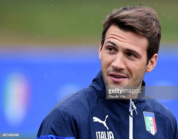 Franco Vazquez during Italy Training Session at Coverciano on March 25 2015 in Florence Italy