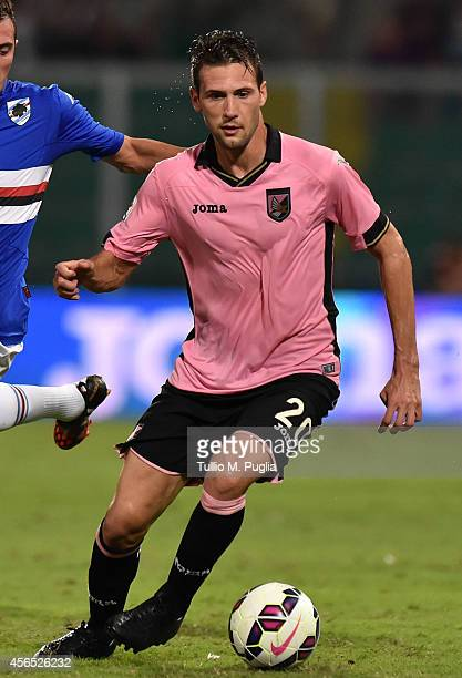 Franco Vazquez of Palermo in action during the Serie A match between US Citta di Palermo and UC Sampdoria at Stadio Renzo Barbera on August 31 2014...