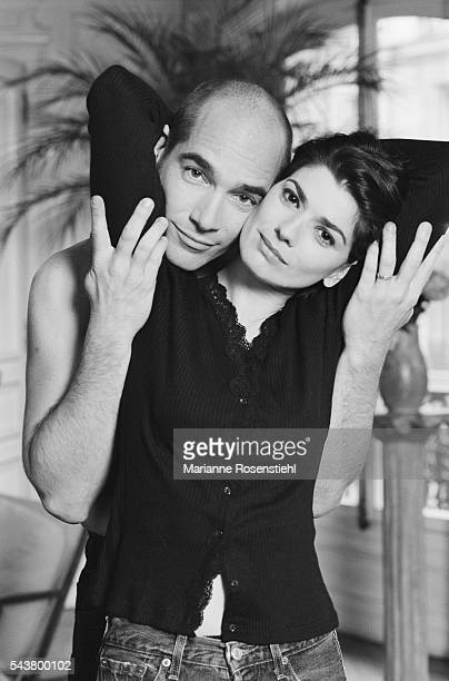 FrancoAmerican actor and director JeanMarc Barr and his wife Yugoslav pianist Irina Decermic at home