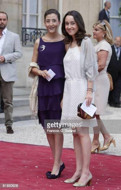 Franco-Colombian politician and former hostage Ingrid Betancourt and her daughter Melanie Betancourt arrive at the Elysee palace, where Ingrid will...