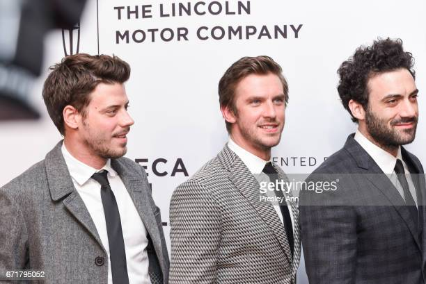 Francois Arnaud Dan Stevens Morgan Spector attend 'Permission' Premiere 2017 Tribeca Film Festival at SVA Theatre 2 on April 22 2017 in New York City