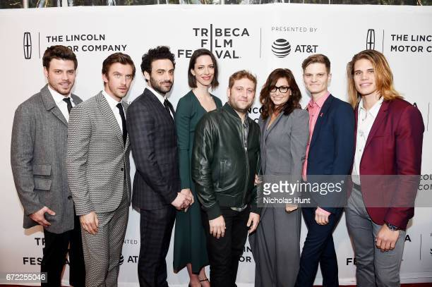 Francois Arnaud Dan Stevens Morgan Spector Rebecca Hall Brian Crano Gina Gershon and David Cray attend the Permission Premiere 2017 Tribeca Film...
