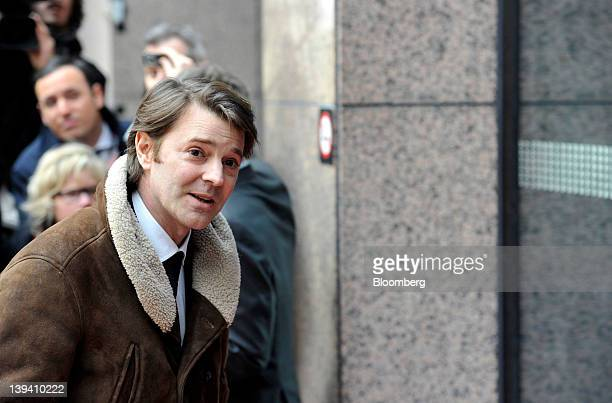Francois Baroin, France's finance minister, arrives to attend the Eurogroup finance ministers meeting at the European Council headquarters in...