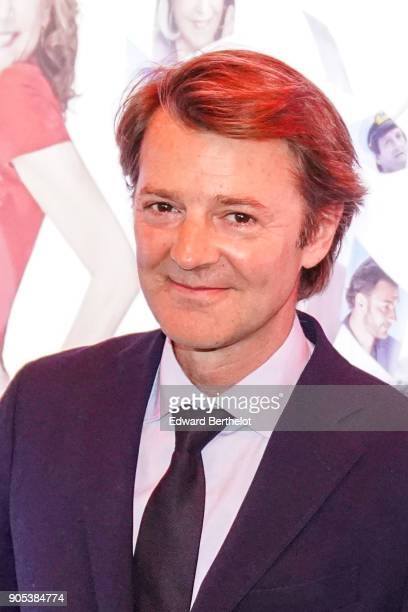 """Francois Baroin is seen, during the """"Brillantissime"""" Photocall, at Publicis Champs Elysees on January 15, 2018 in Paris, France."""