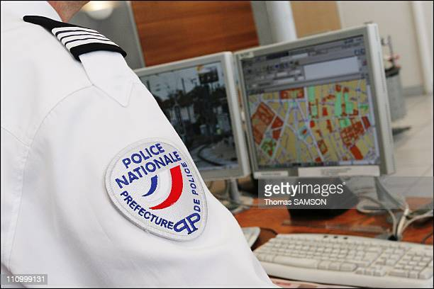 Francois Baroin, making his first visit as Minister of the Interior, at the Prefecture of Police in Paris, France on March 27th, 2007 - Room...