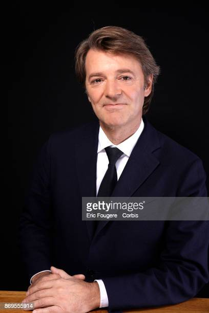 Francois Baroin poses during a portrait session in Paris, France on .
