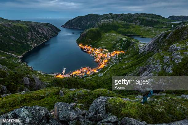 francois bay - newfoundland and labrador stock pictures, royalty-free photos & images