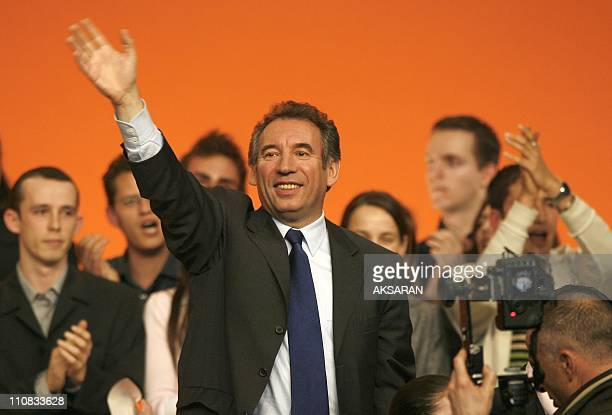 Francois Bayrou During A Meeting In Toulouse France On March 05 2007 Francois Bayrou candidate to the Elysee after the meeting with the syndicates of...