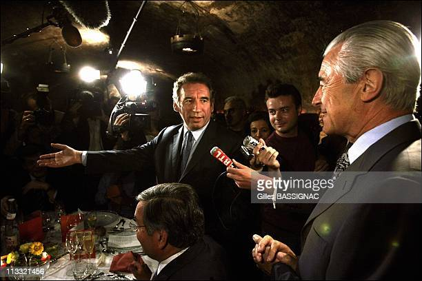 Francois Bayrou On The Parliamentary Days Of The Udf - On September 21St, 2005 - In Reims, France - Here, Dinner In The Ceillars Of Champagne...