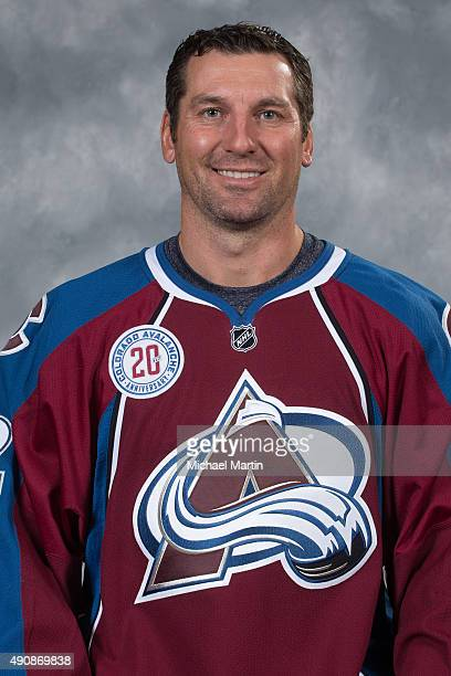 Francois Beauchemin of the Colorado Avalanche poses for his official headshot for the 20152016 NHL season on September 17 2015 at the Pepsi Center in...