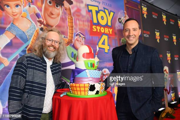 Francois Bellefeuille and Tony Hale attend the 'Toy Story 4' Canadian Premiere held at Scotiabank Theatre on June 13 2019 in Toronto Canada
