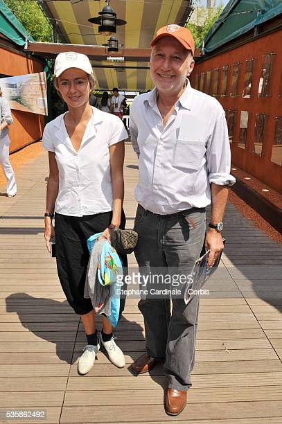 Francois Berleand and Alexia Stresi at Roland Garros Village in Paris