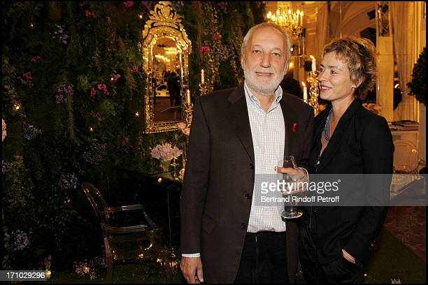 Francois Berleand and Alexia Stresi at Spring Party In Celebration Of The Opening Of Des Salons D'Honneur At The Pre Catelan Restaurant In The Bois...