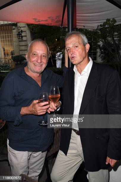 Francois Berleand and Cellar Master Regis Camus attend the Millesime Champagne Rose 2008 By Maison Piper Heidsieck : Launch Party At Pavillon De La...