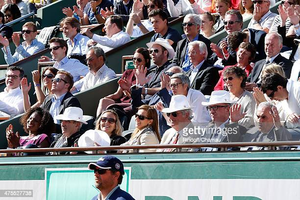 Francois Berleand and his wife Alexia Stresi Athlet Muriel Hurtis Raymond Domenech Guest Miss Manuel Valls Violonist Anne Gravoin JeanLoup Dabadie...