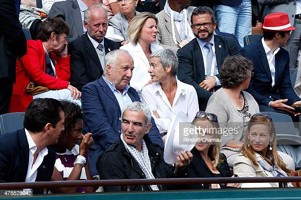 Francois Berleand and his wife Alexia Stresi Athlet Muriel Hurtis Raymond Domenech Guest and Miss Manuel Valls Violonist Anne Gravoin attend the 2015...