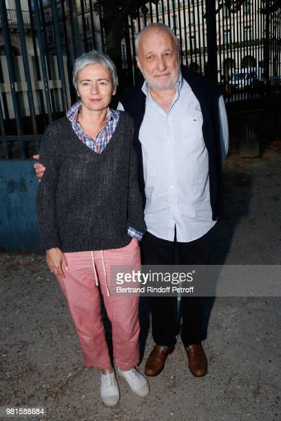Francois Berleand and his wife Alexia Stresi attend the Fete Des Tuileries on June 22, 2018 in Paris, France.