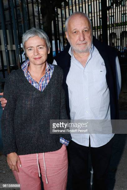 Francois Berleand and his wife Alexia Stresi attend the Fete Des Tuileries on June 22 2018 in Paris France