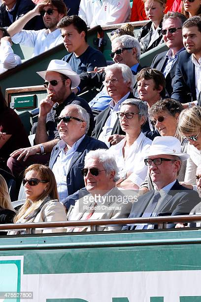 Francois Berleand and his wife Alexia Stresi Miss Manuel Valls Violonist Anne Gravoin JeanLoup Dabadie and Bertrand Meheut attend the 2015 Roland...