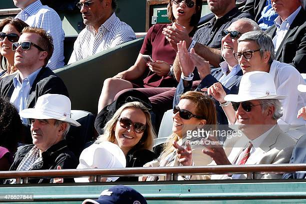 Francois Berleand and his wife Alexia Stresi Raymond Domenech Guest Miss Manuel Valls Violonist Anne Gravoin and JeanLoup Dabadie attend the 2015...