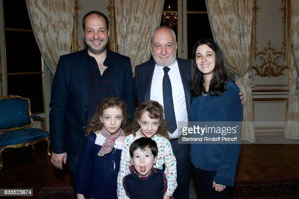 Francois Berleand his twins daughters Lucie and Adele his son Martin Berleand his grandson and his daughter Fanny Berleand attend Francois Berleand...
