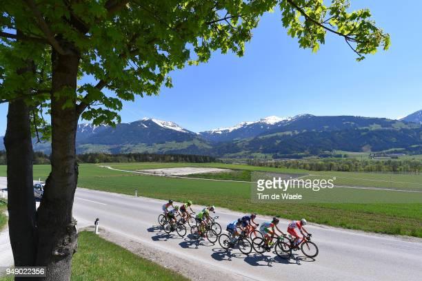Francois Bidard of France and Team AG2R La Mondiale / Nicola Bagioli of Italy and Team Nippo ViniFantini / Oscar Rodriguez of Spain / and Team...
