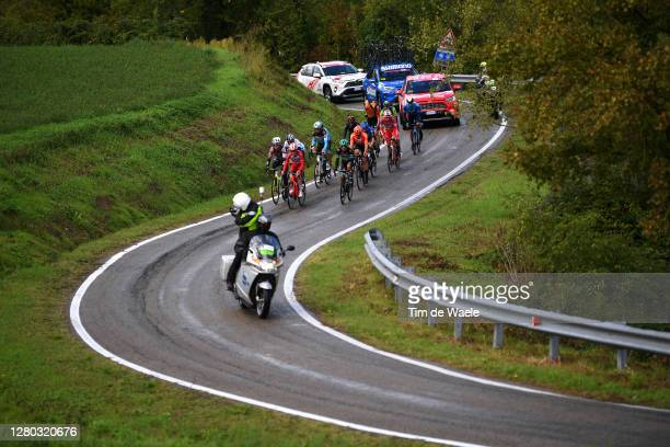 Francois Bidard of France and Team Ag2R La Mondiale / Simon Pellaud of Switzerland and Team Androni Giocattoli - Sidermec / Manuele Boaro of Italy...