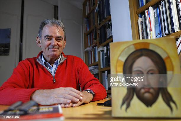 Francois Boespflug French historian of art and religion poses in Paris on November 18 2016 Islamic extremists destroyed the Buddhas of Bamiyan in...