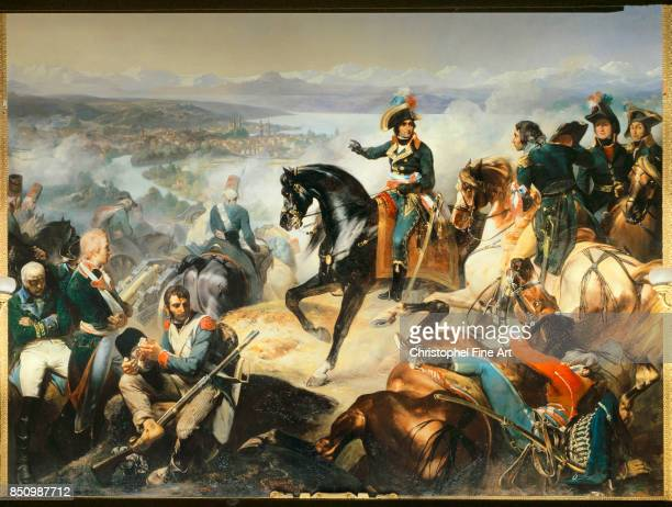 Francois Bouchot Battle of Zurich September 25th won by General Massena over the Austro Russian Army of Suvorov 1837 Oil on canvas 465 x 543 m...