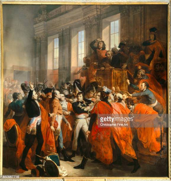 Francois Bouchot Bonaparte at the Council of Five Hundred in SaintCloud 1840 Oil on canvas 421 x 401 m Versailles Chateaux de Versailles et de Trianon