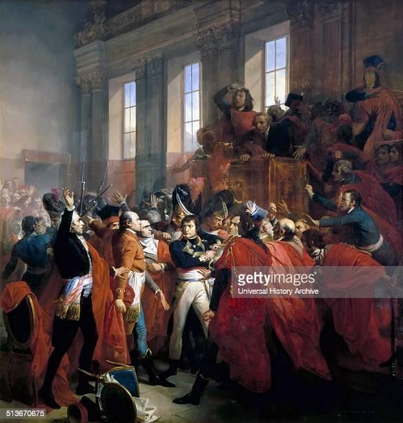 Francois Bouchot's depiction of Napoleon Bonaparte at the Council of 500 in Saint Cloud November 10 1799