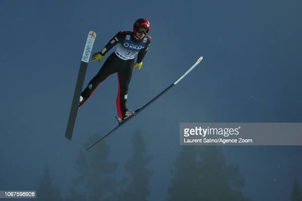 Francois Braud of France competes during the FIS Nordic World Cup Nordic Combined HS140/10km on December 2 2018 in Lillehammer Norway
