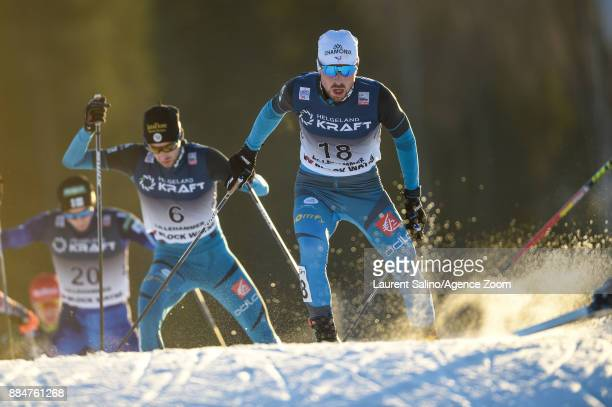 Francois Braud of France competes Maxime Laheurte of France competes during the FIS Nordic World Cup Nordic Combined HS138 / Ind Gund on December 3...