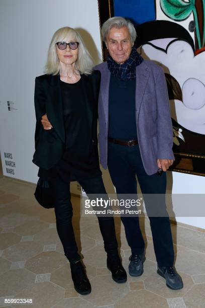 Francois Catroux and his wife Betty attend the Picasso 1932 Exhibition Opening at Musee national PicassoParis on October 10 2017 in Paris France