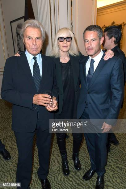 Francois Catroux Betty Catroux and Philippe Mugnier attend the Opening Party at Yves Saint Laurent Museum as part of the Paris Fashion Week...