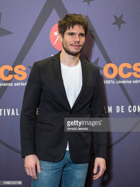 Francois Civil attends 'Nicky Larson et le parfum de Cupidon' premiere during the 22nd L'Alpe D'Huez International Comedy Film Festival on January 18...
