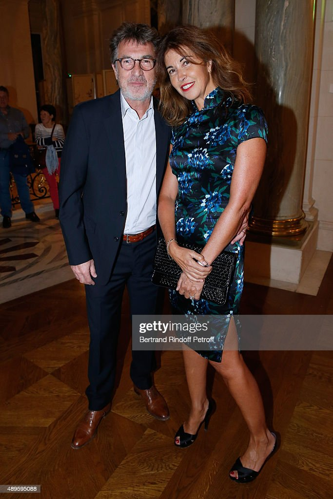 Francois Cluzet and his wife Narjiss attend 'Shangri-La Hotels and Resorts' presents its new Hotel in Mauritius , 'Le Touessrok Resort and Spa'. Held at Paris Shangri-La Hotel on September 22, 2015 in Paris, France.