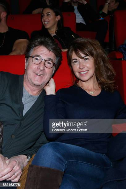 Francois Cluzet and his wife Narjiss attend the 'Rock'N Roll' Premiere at Cinema Pathe Beaugrenelle on February 13 2017 in Paris France
