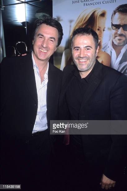 Francois Cluzet and Jose Garcia during 4 Etoiles Paris Premiere After Party April 24 2006 at VIP Room in Paris France