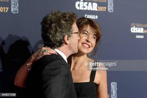 Francois Cluzet and Narjiss A Cluzet arrive at the Cesar Film Awards Ceremony at Salle Pleyel on February 24 2017 in Paris France