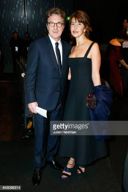 Francois Cluzet and Narjiss A Cluzet pose during the Cesar Film Awards Ceremony at Salle Pleyel on February 24 2017 in Paris France