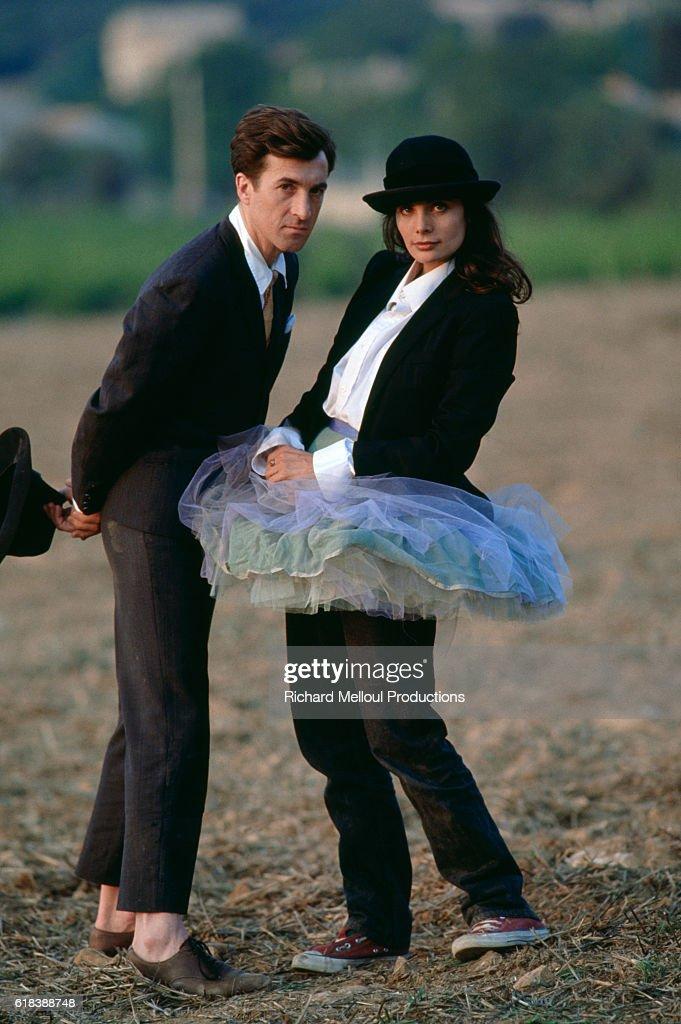 Francois Cluzet and Marie Trintignant : Photo d'actualité
