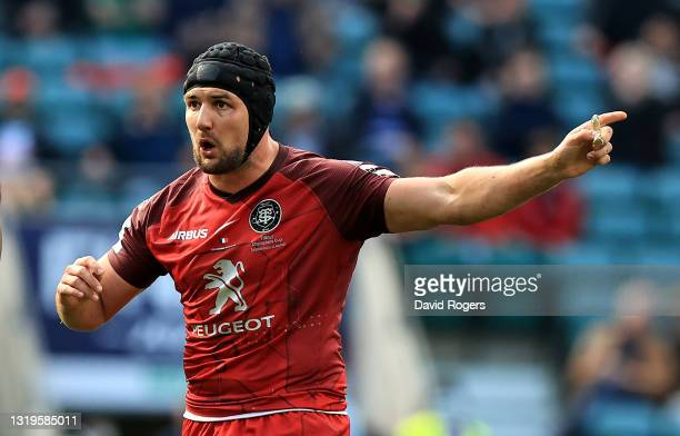 Francois Cros of Toulouse looks on during the Heineken Champions Cup Final match between La Rochelle and Toulouse at Twickenham Stadium on May 22,...