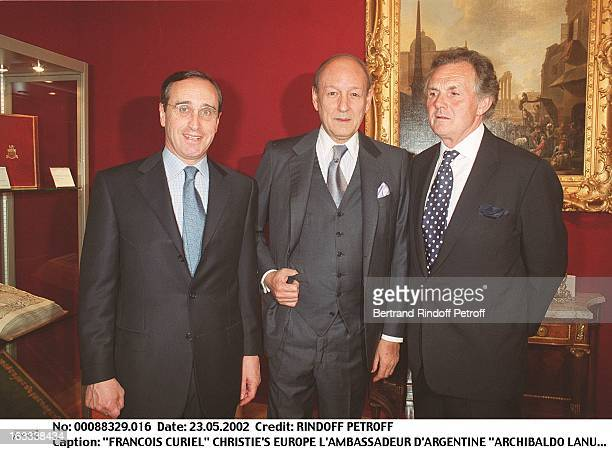 Francois Curiel Christie'S Europe the Ambassadorr of Argentina Archibaldo Lanus Lord Hindlip party at Christie's collection of the Marquis de Bath...